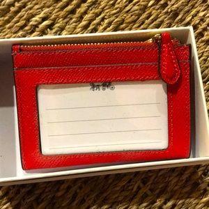 Coach mini ID wallet/ key chain